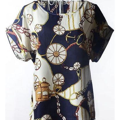 Dámské triko s mnoha vzory - varianta H, velikost č. 4