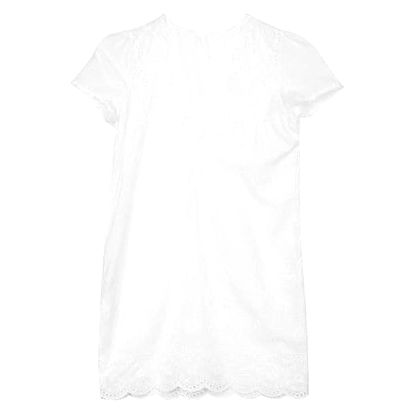 Mini bílé šatičky s krajkou a hlubokým výstřihem - vel. 3