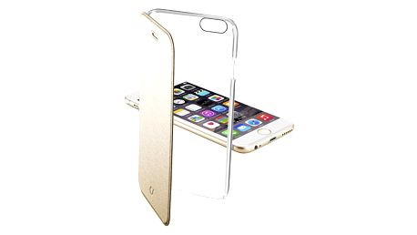 CellularLine průhledné pouzdro typu kniha Clear Book pro Apple iPhone 6, zlaté - CLEARBOOKIPH647H