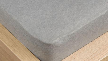 VOG Prostěradlo jersey Klasik šedá, 100 x 200 cm