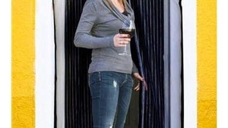 BRILANZ Síť na dveře proti hmyzu 100 x 210 cm, černá