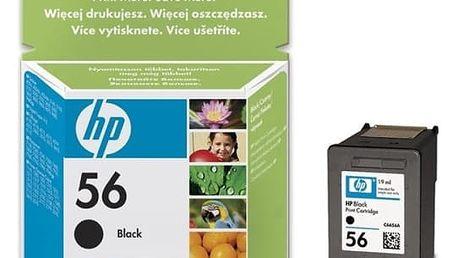 Inkoustová náplň HP No. 56, 19ml, 520 stran - originální (C6656AE) černá