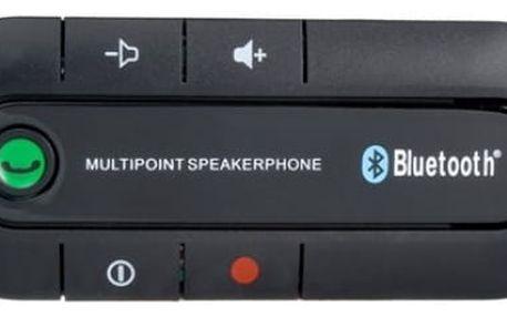 Bluetooth handsfree do auta - na stínítko - černá