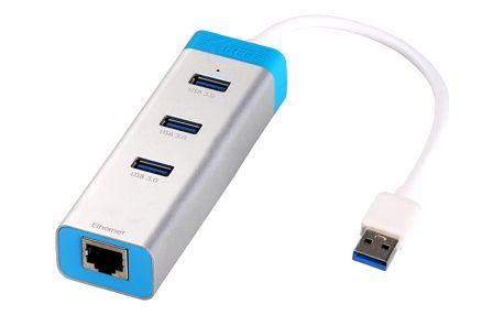 i-Tec USB 3.0 Gigabit Ethernet Adapter + HUB - U3GLAN3HUB