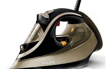 Žehlička Philips Azur Pro GC4887/00 hnědá Žehlicí prkno Vileda Viva Express Basic (zdarma) + Doprava zdarma