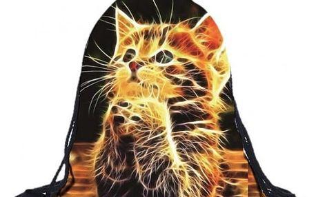 Vak na záda s ohnivým koťátkem - dodání do 2 dnů