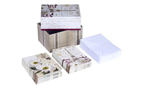 Set komplimentek a obálek v úložném boxu Tri-Coastal Design Paris