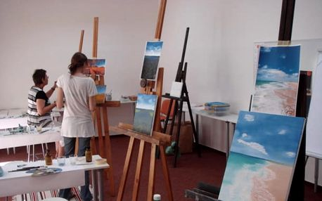 Letní kurz olejomalby - malba špachtlí a štětcem, 1 den mezi 24. a 27. červencem