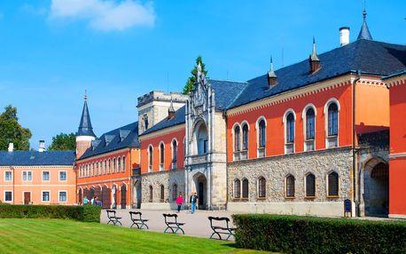 Romantika u zámku Sychrov s polopenzí a wellness