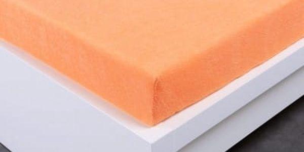XPOSE ® Froté prostěradlo Exclusive dvoulůžko - meruňková 160x200 cm