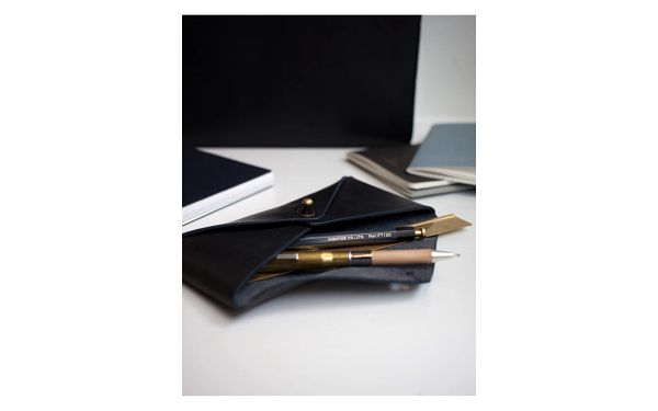 Kožené pouzdro na brýle O My Bag Envelope Midnight Dark2