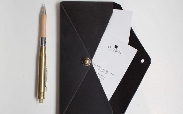 Kožené pouzdro na brýle O My Bag Envelope Midnight Dark3