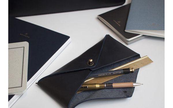 Kožené pouzdro na brýle O My Bag Envelope Midnight Dark4