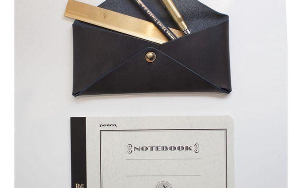 Kožené pouzdro na brýle O My Bag Envelope Midnight Dark5