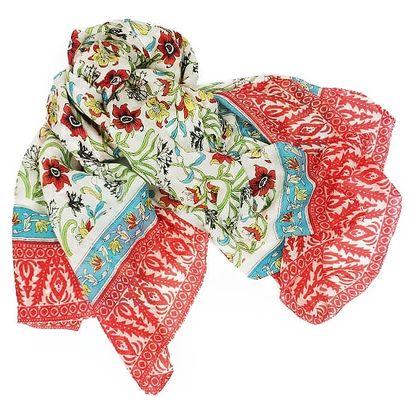 Plážový šátek - polní květ