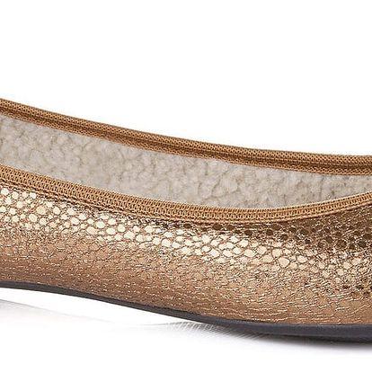 Butterfly Twists zlaté dámské baleríny Penelope Antique Gold Scale - 38