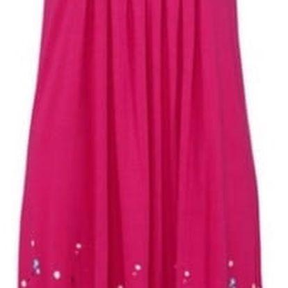 Lehké dlouhé květinové šaty pro ženy - růžové, velikost 4