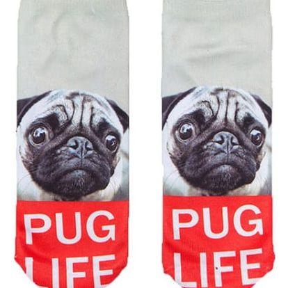 Vtipné kotníkové ponožky s pejskem - více druhů