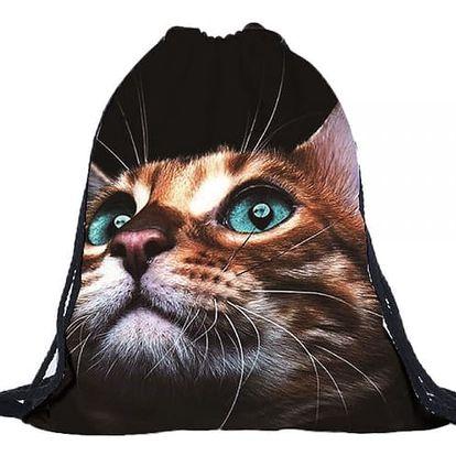 Vak na záda s 3D kočičkou