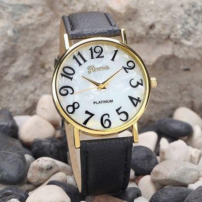 Dámské retro hodinky s velkým číslicemi - 2 barvy - dodání do 2 dnů