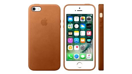 Apple iPhone SE Leather Case, Saddle Brown - MNYW2ZM/A