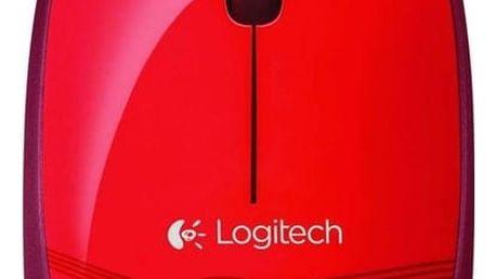 Logitech Mouse M105, červená - 910-002942