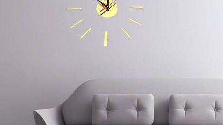 3D hodiny na zeď ve čtyřech barvách
