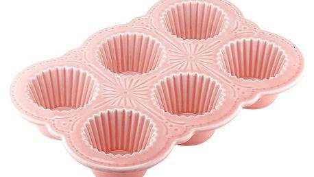 Růžová porcelánová forma na muffiny Ladelle Bake