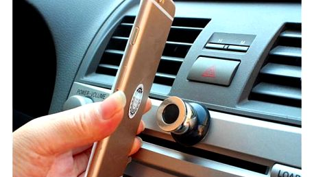 Magnetický držák na telefon do auta - černá barva - dodání do 2 dnů