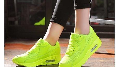 Sportovní obuv s vysokou podrážkou - unisex, mix barev