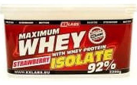 XXLABS Maximum Whey Protein Isolate jahodový 2200 g
