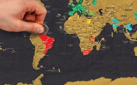 Stírací mapa světa - 2 varianty