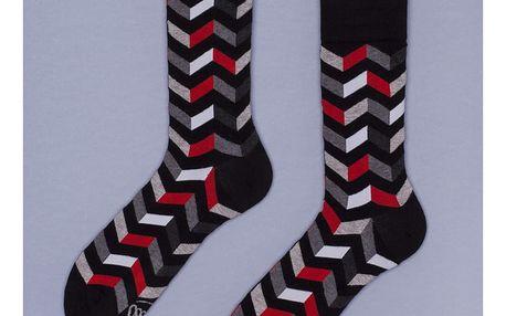 Ponožky Many Mornings Zig Zag Grey, vel. 43/46