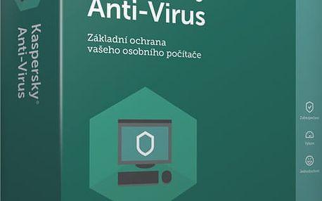 Kaspersky Anti-Virus 2017 CZ, 3 zařízení, 12 měsíců, obnovení licence - KL1171OBCBR-CZ