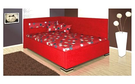 Rohová postel MELISSA 140x200 cm vč. roštu, matrace a ÚP