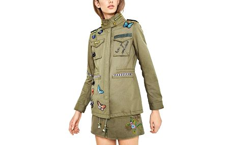 Desigual khaki bunda Taque v boho stylu - 36