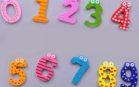 Sada vzdělávacích dřevěných magnetů - čísla - dodání do 2 dnů