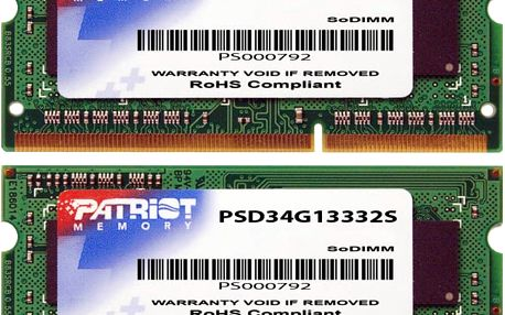 Patriot Signature Line 4GB DDR3 1333 SO-DIMM CL 9 - PSD34G13332S