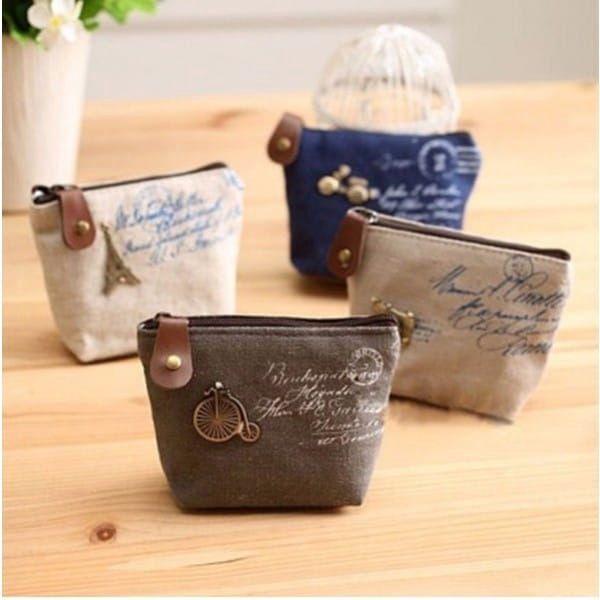 Látková peněženka ve vintage stylu - 4 varianty