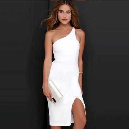 Elegantní bílé šaty - styl tři, velikost č. 5