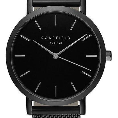 Černé dámské hodinky Rosefield The Mercer - doprava zdarma!