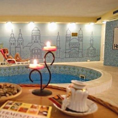 Lázeňské městečko EGER s neomezeným wellnessem a bazénem ve 4* hotelu v centru