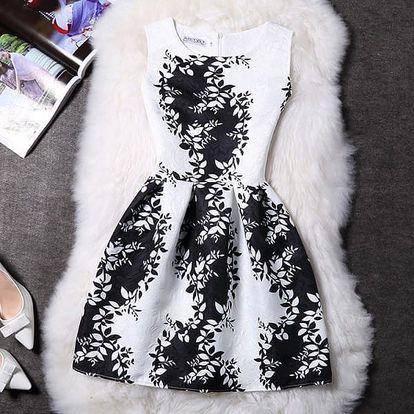 Elegantní šaty s originálními motivy - varianta 19, velikost 4 - dodání do 2 dnů
