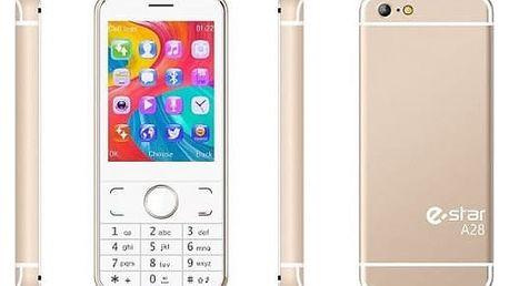 Mobilní telefon eStar A28 Dual SIM zlatý