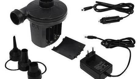Pumpička LIFEFIT na 12V/220V/baterie k nafukovací matraci černá