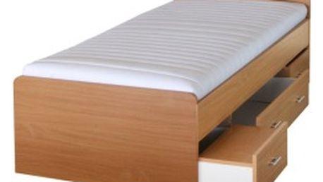 TEMPO KONDELA Duet postel, buk, 90x200