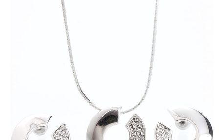 Set náhrdelníku a náušnic s krystaly Swarovski Elements Laura Bruni Atola