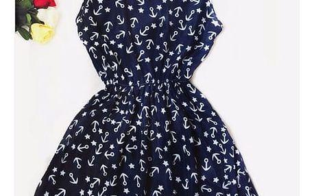 Letní šaty s barevným vzorem -vzor 19, velikost 6
