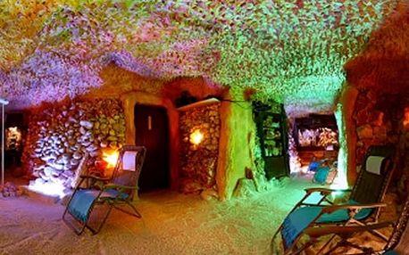 Vstup do Pravé Solné Jeskyně v Praze. Relaxační a ozdravný pobyt jako u moře.