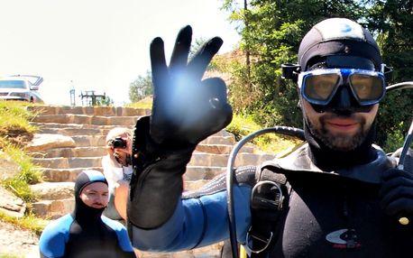 4denní kurz potápění v lomu pro začátečníky